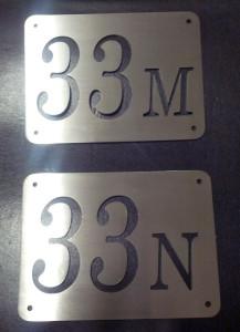 Numeri civici in acciaio inox satinato