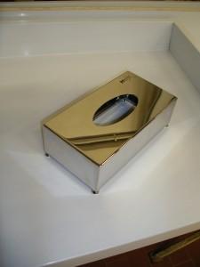 Porta kleenex in inox lucido