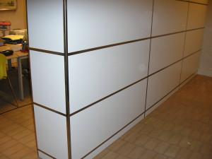 Rivestimento armadio con profili inox