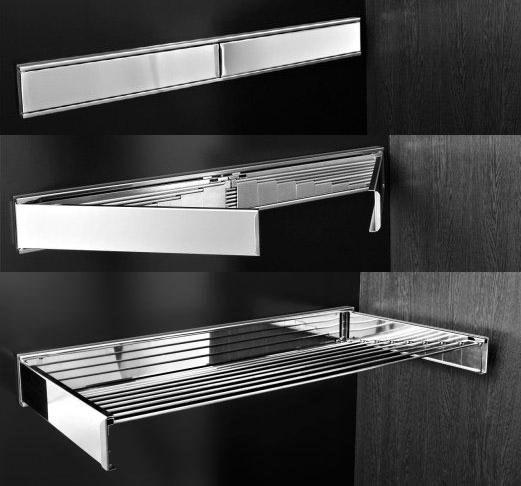 Accessori arredo bagno in acciaio inox su misura marinox - Stendibiancheria da bagno ...