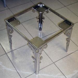 Struttura tavolino da soggiorno inox lucido